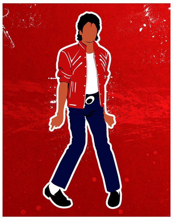 Michael Jackson Beat It Inspired Print by SamSamDesigns on Etsy, $17.68