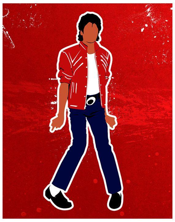 Michael Jackson Beat It Inspired Print by SamSamDesigns on Etsy, $17.68