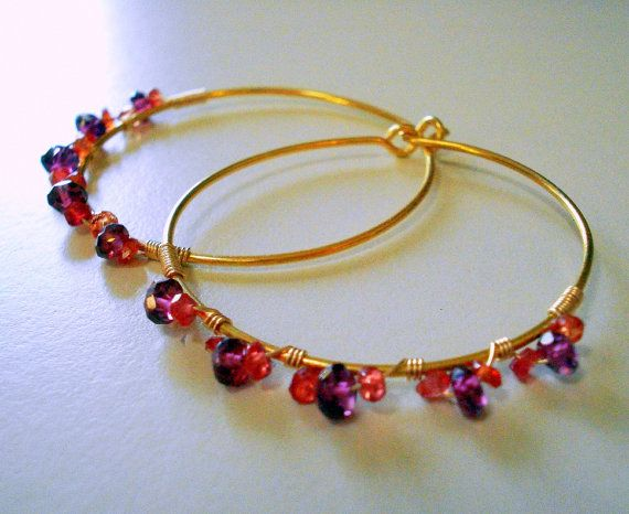 SALE  Gypsy 2  Garnet & Padparadscha Sapphire by SapphireSmith, $46.00