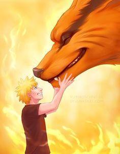 Naruto and Kurama by YurikoSchneide on DeviantArt