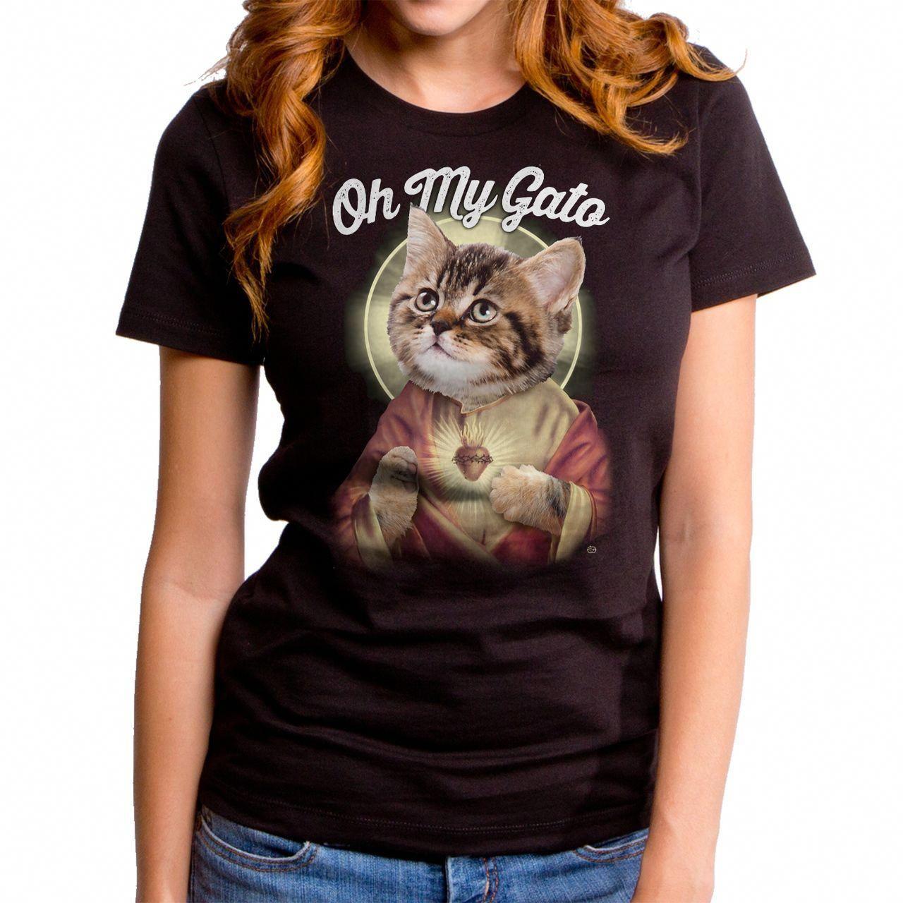 deecc88de Oh My Gato Women's T-Shirt – Funny Cat T-Shirt, Funny Jesus T-Shirt by  Goodie Two Sleeves