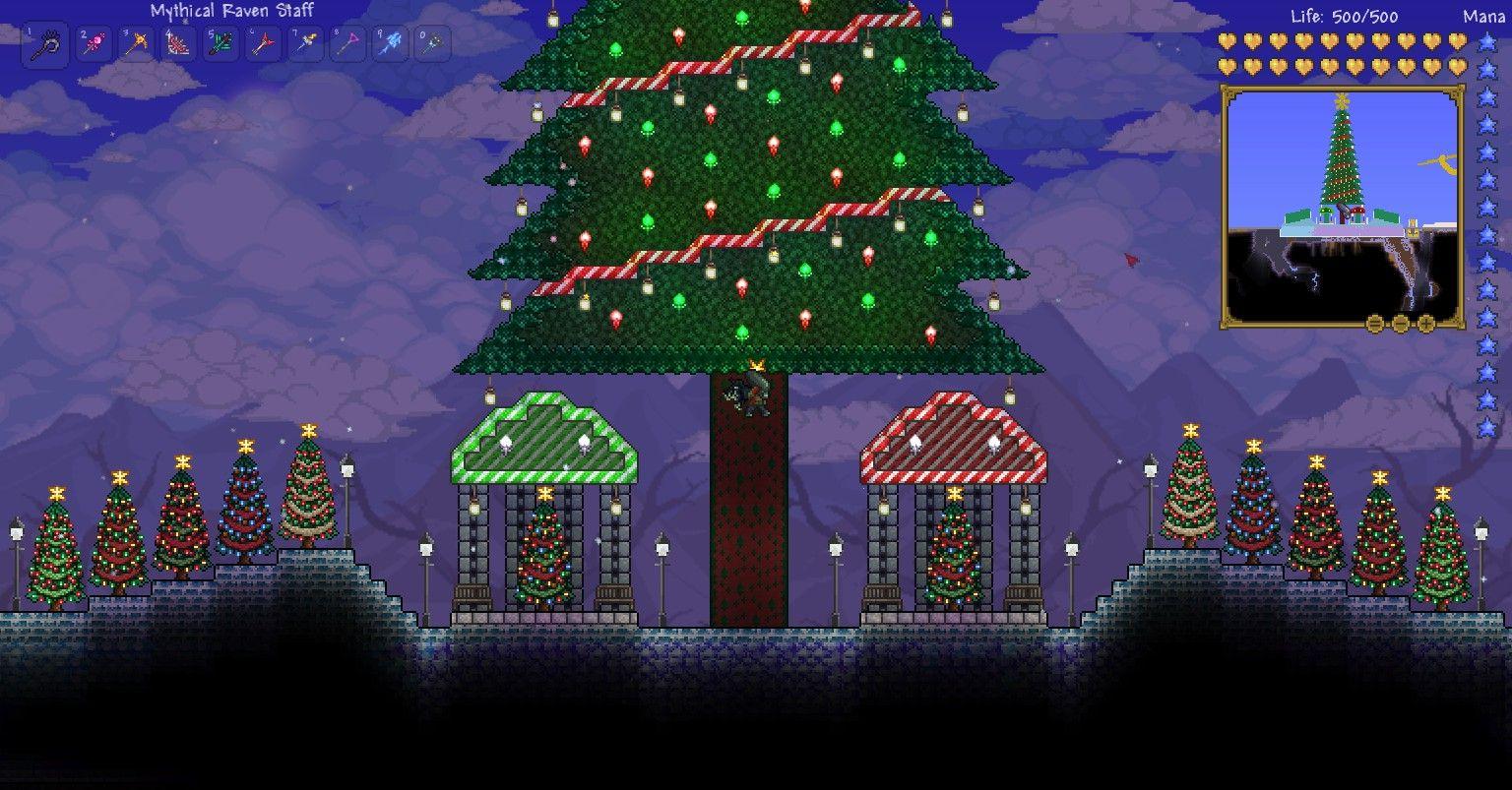 Terraria Christmas House.Aristocrat S Christmas Tree Terraria Creations Gothic