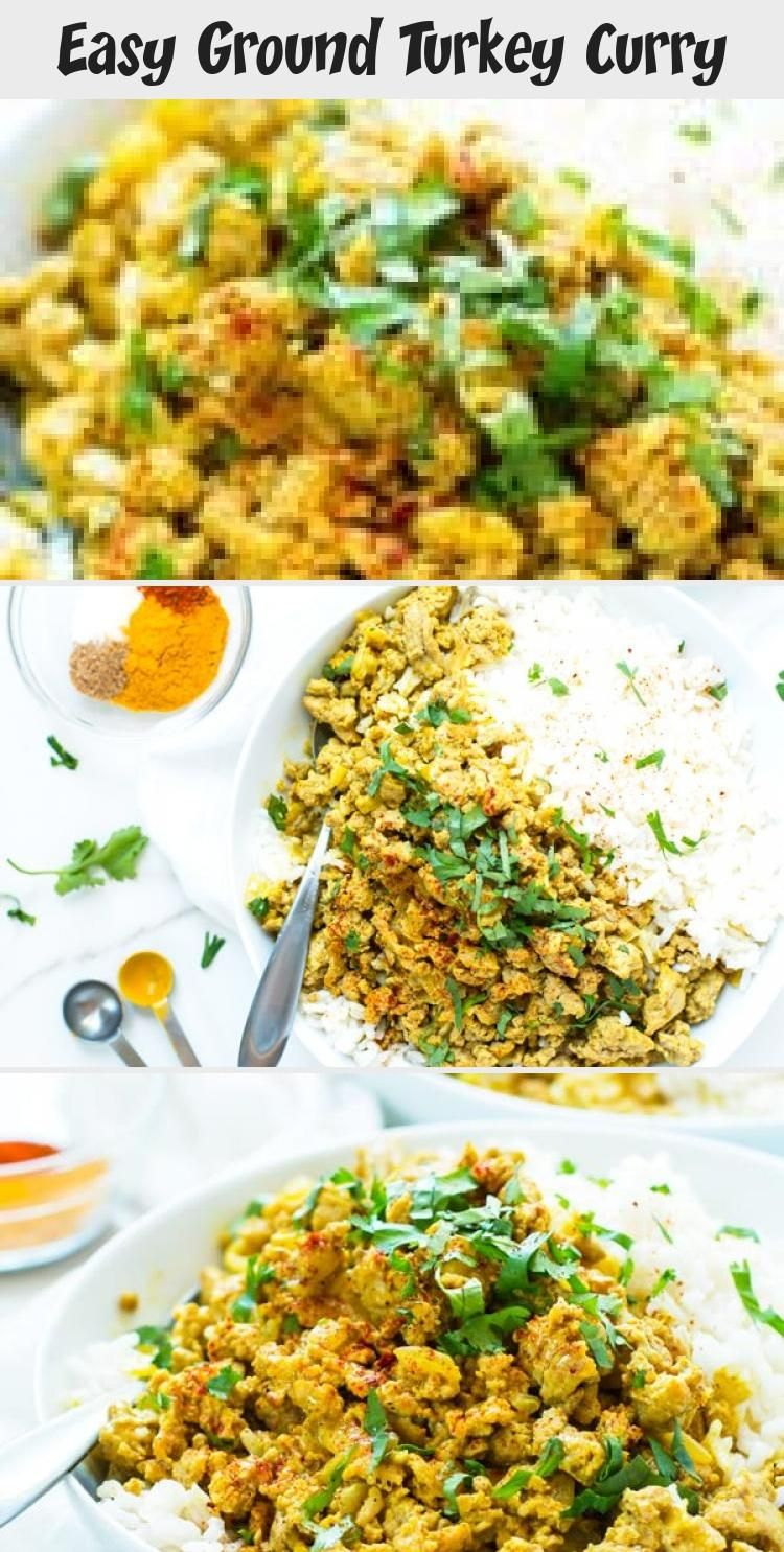 Easy Ground Turkey Curry in 2020 | Turkey curry recipe ...
