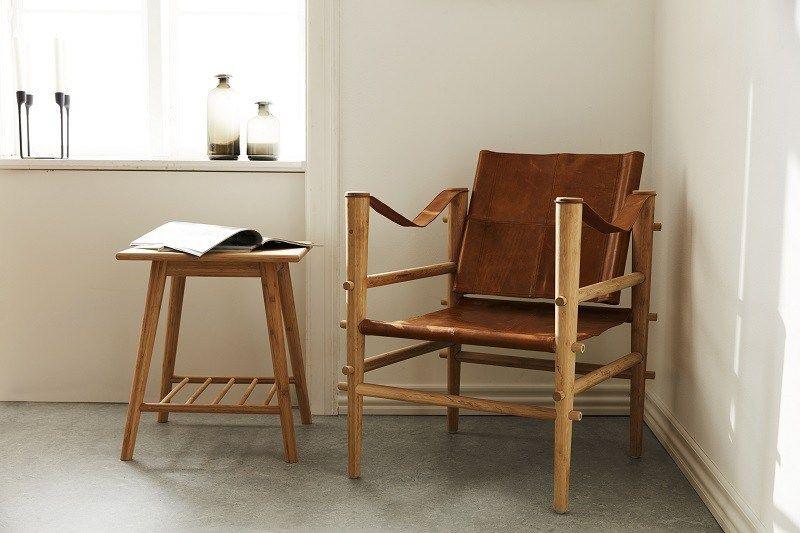safari stol Cinas Noble Safari stol   Brun læder   Gratis fragt | Rå look  safari stol
