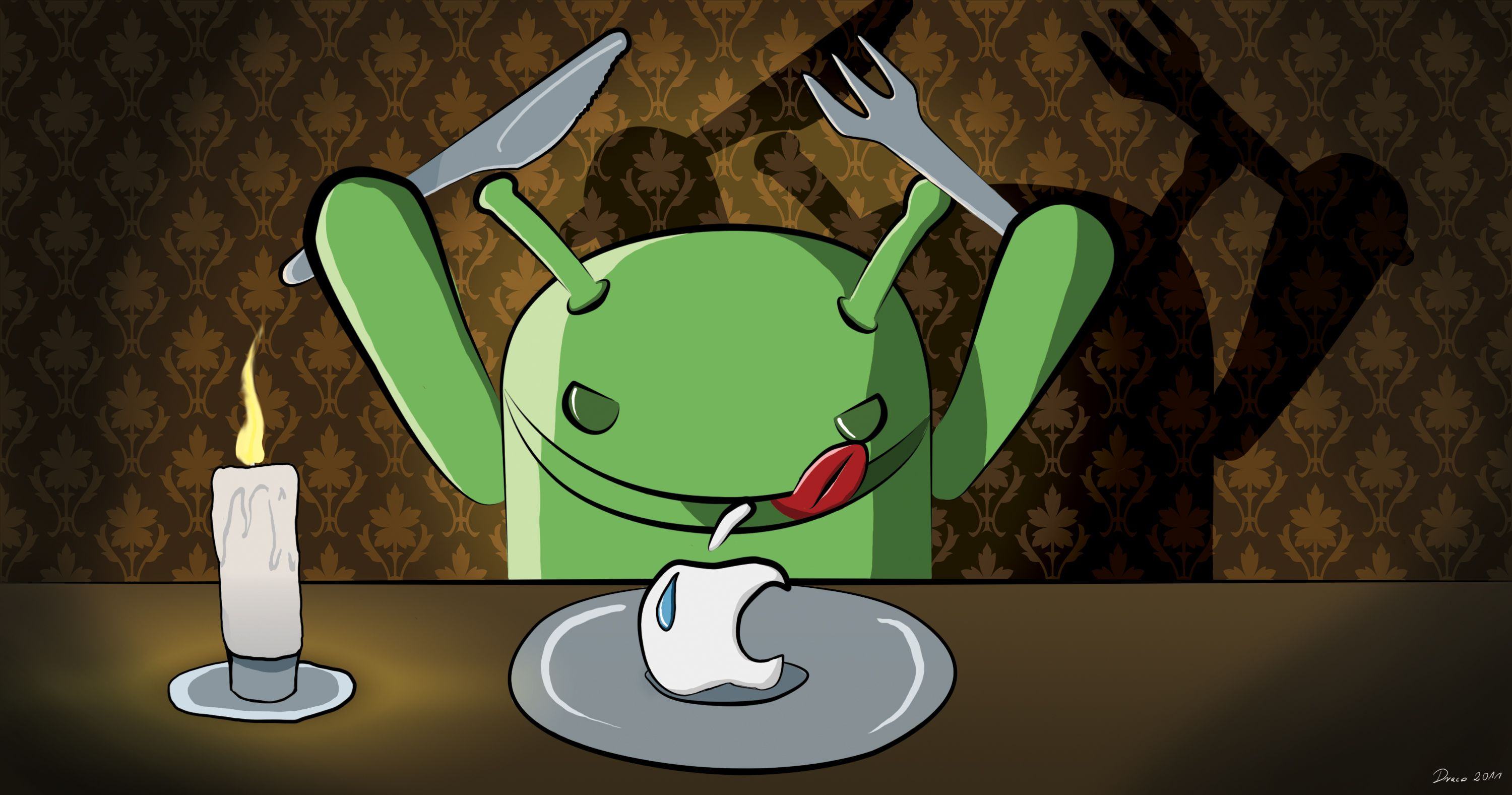 its evil that it hast to be funny. Android wallpaper