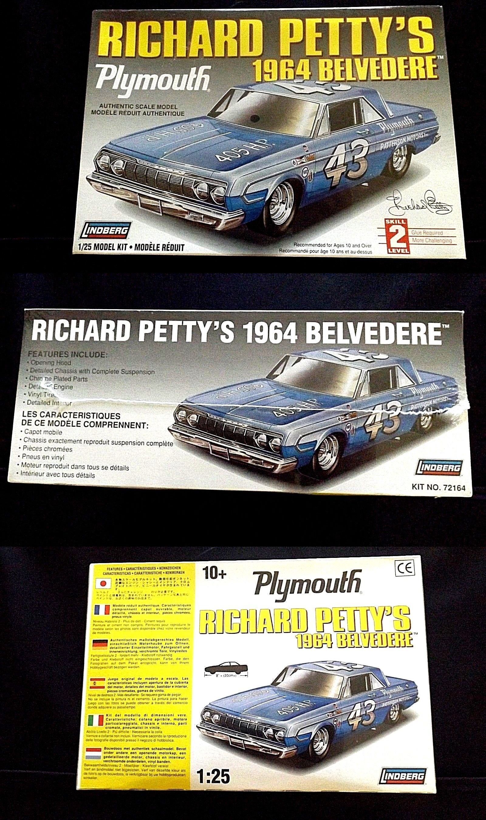 Bmw Interieur Verf Kits 145964 Model Kit Nascar 43 Richard Petty S 1964 Plymouth