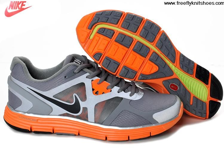 ea6b8566e9496 Latest Listing Mens Nike Lunarglide 3 Cool Grey Black-Total Orange-Reflective  Silver Shield Shoes The Most Flexible Running Shoes