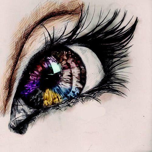 Olhar Olhos Truecolors Color Desenho Arte Eye Art Drawings Art