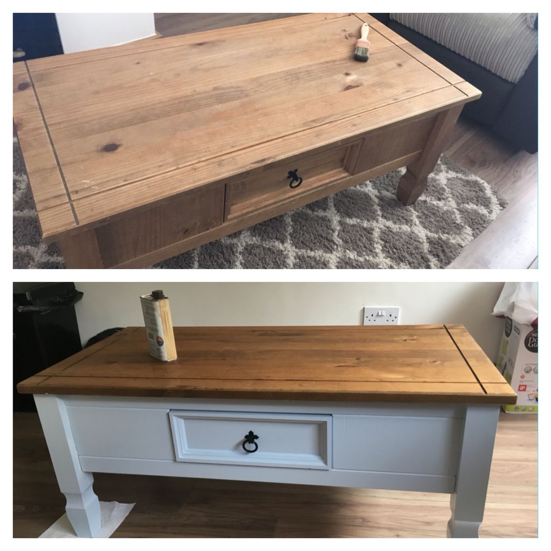Up Cycled Mexican Corona Pine Coffee Table Blue Sky In 2019