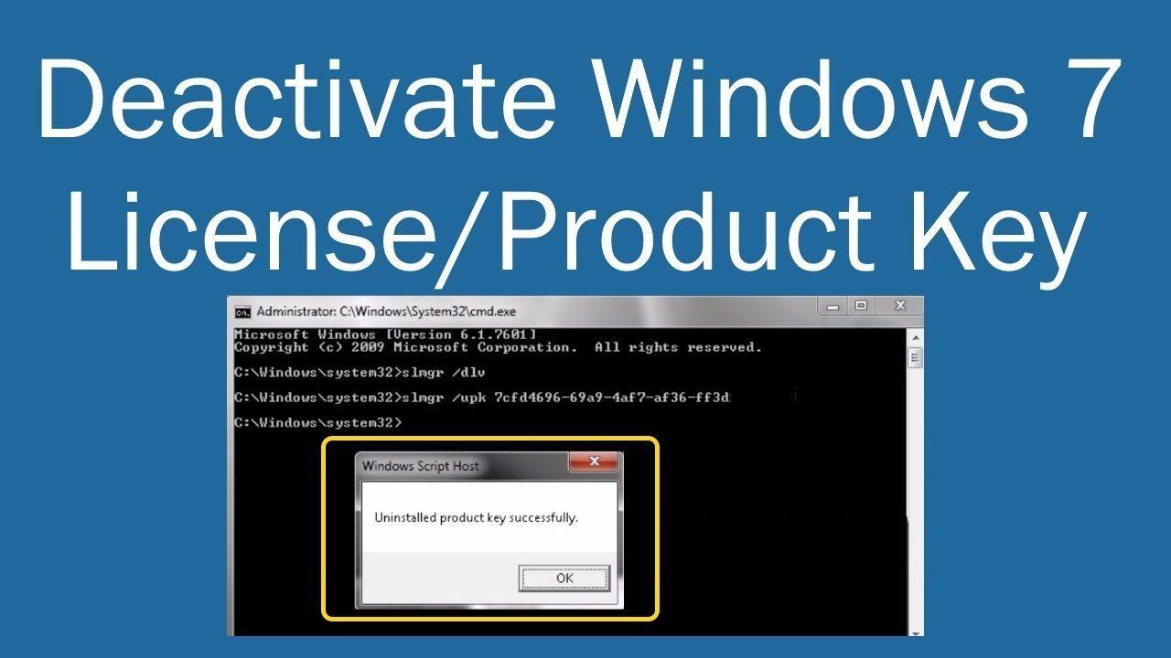 Deactivate Windows 7 License or Product Key PCGUIDE4U