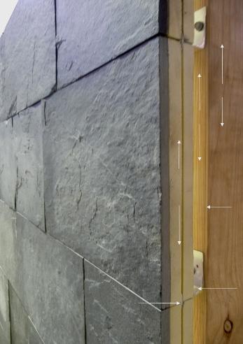 Limestone veneer wall cladding wall insulated for Stone wall insulation