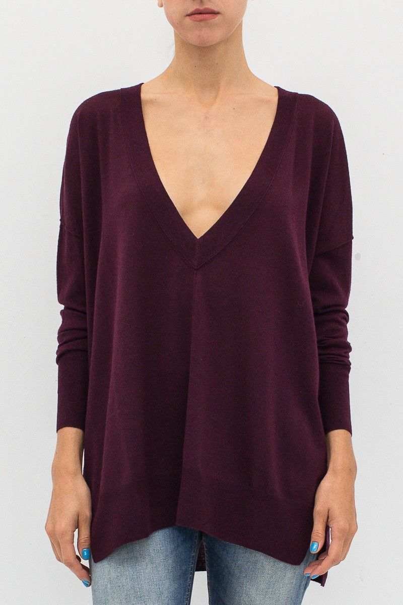 VNECK OVERSIZE SWEATER Sweaters, Pullover, Casual