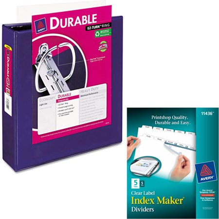 Avery 1 5 inch Durable View Binder with EZ-Turn Ring and