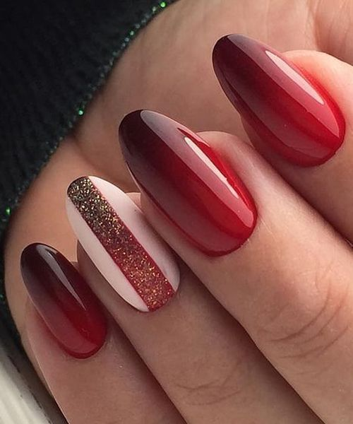 Ever Beautiful Red Hot Wedding Nail Art Designs Burgundy Nails Red Nail Designs Ombre Nail Art Designs