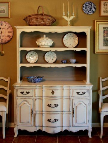 shabby etsy chic country market il shipping cottage china distressed free hutch hutches