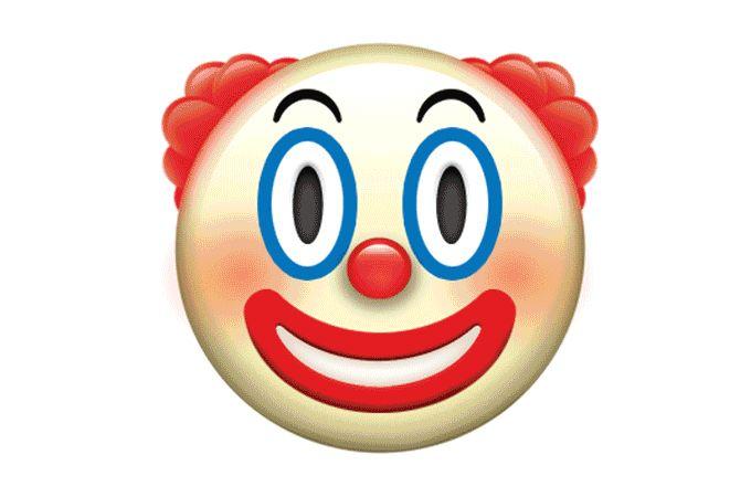 The Clown Emoji That Will Give You Nightmares The Rest Of Apple S New Emoji Emoji Meme Clown Meme Emoji Stickers