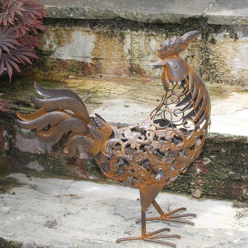 Hand Crafted Rural Metal Stork by Primus for the garden