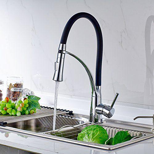 Mischbatterie küche schwarz  Timaco Küchenarmatur Armatur Spüle Spültischarmatur Wasserhahn Küche ...