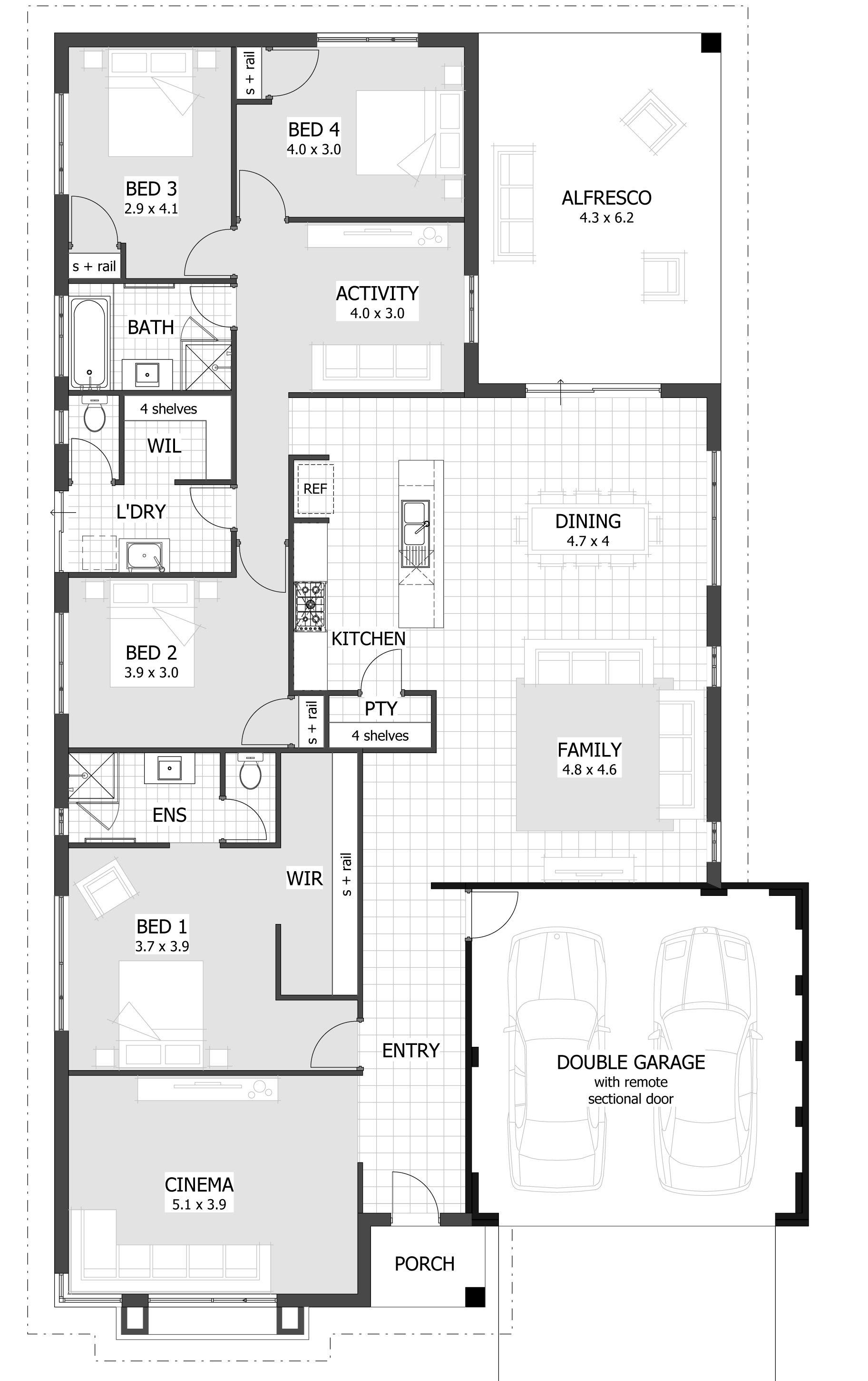 House designs perth new single storey home also rh pinterest