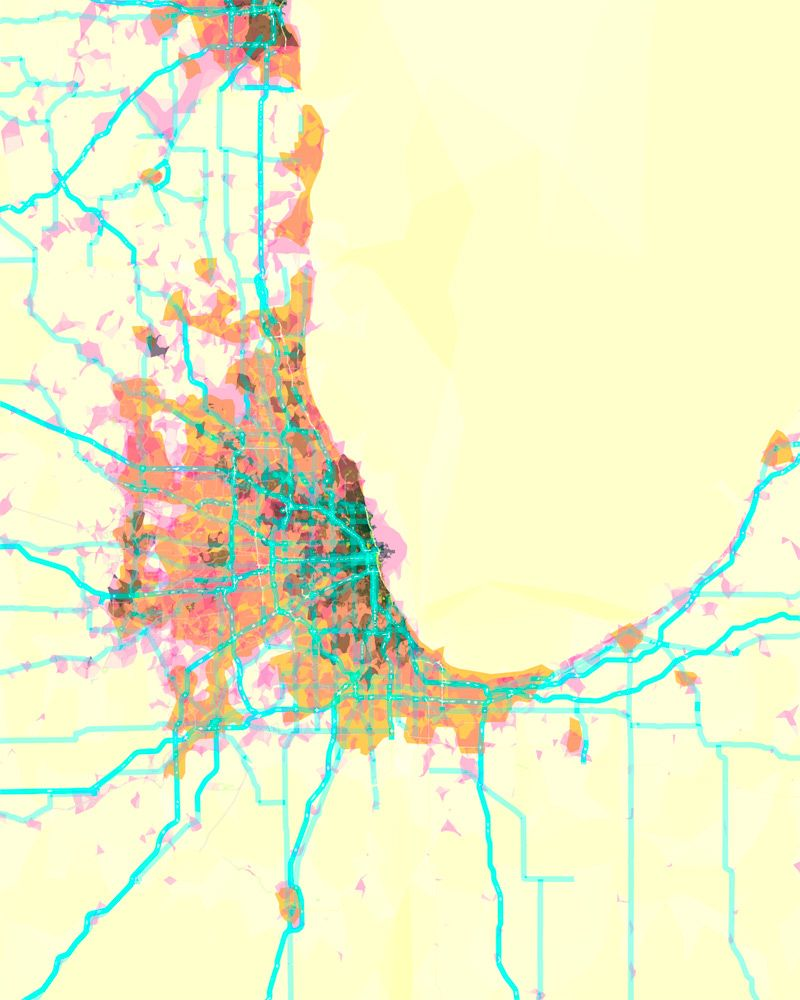 Prettymaps Chicago Stamen Chicago Map Artist Watercolor Map