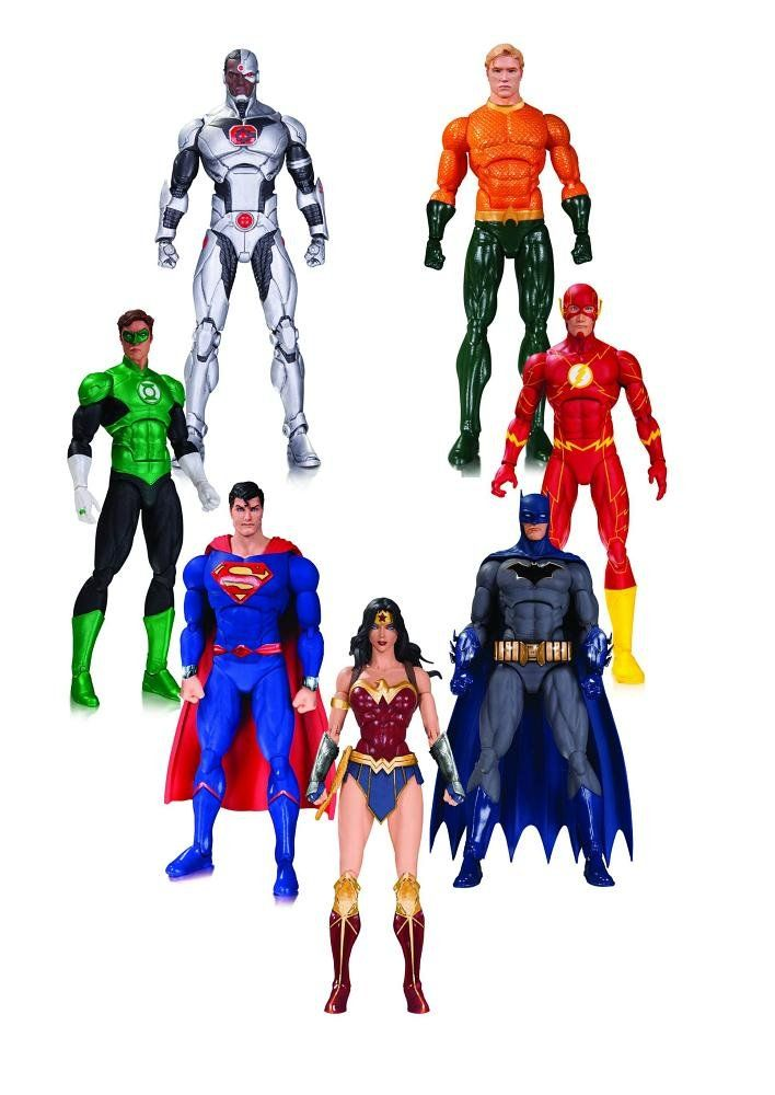 Dc Rebirth Justice League Of America Action Figure 7 Pack All New Dc Rebirth Costumes F Justice League Action Figures Superman Action Figure Dc Collectibles