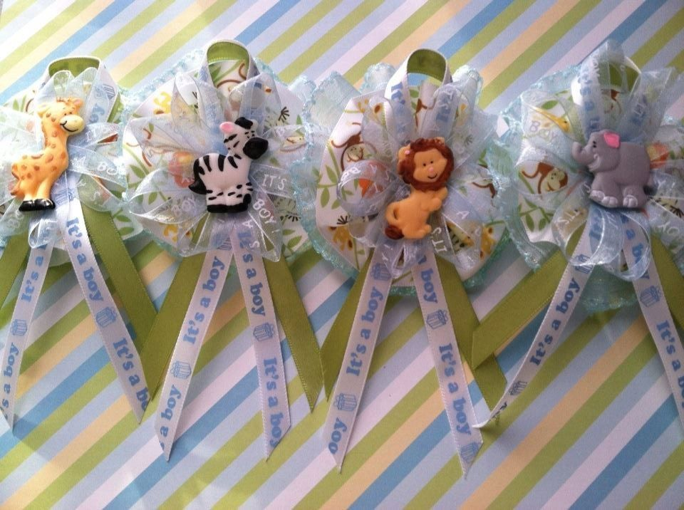 Baby Shower Animal Safari Theme Guest Corsage By Luciriscreations