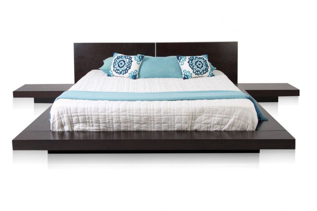 Persa Platform Contemporary Bed Brown Furniture