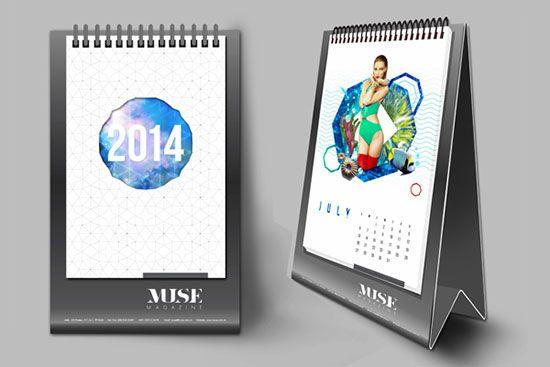 25 New Year 2014 Wall & Desk Calendar Designs For Inspiration ...