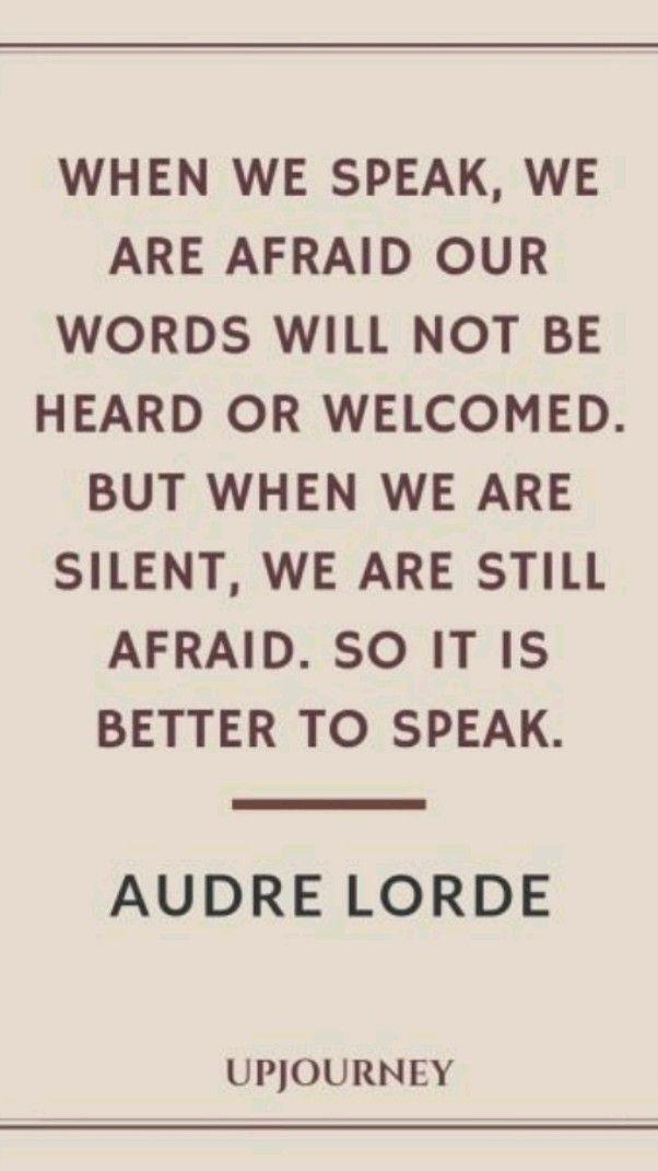 Need to be Heard