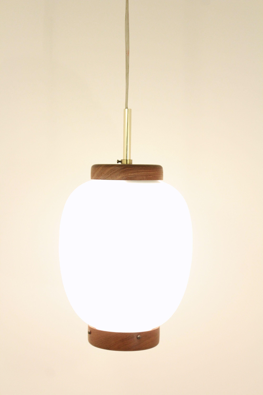 Vintage 1960s Bent Karlby Lyfa Kinesisk Pendant Lamp Danish Design Lamp Danish Design Pendant Lamp