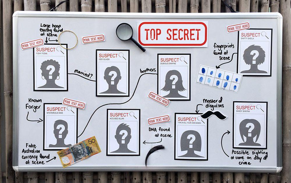 Secret agent birthday party invitations top secret spy things spy or secret agent party decorations suspect cards top secret birthday party theme instant download via simonemadeit filmwisefo