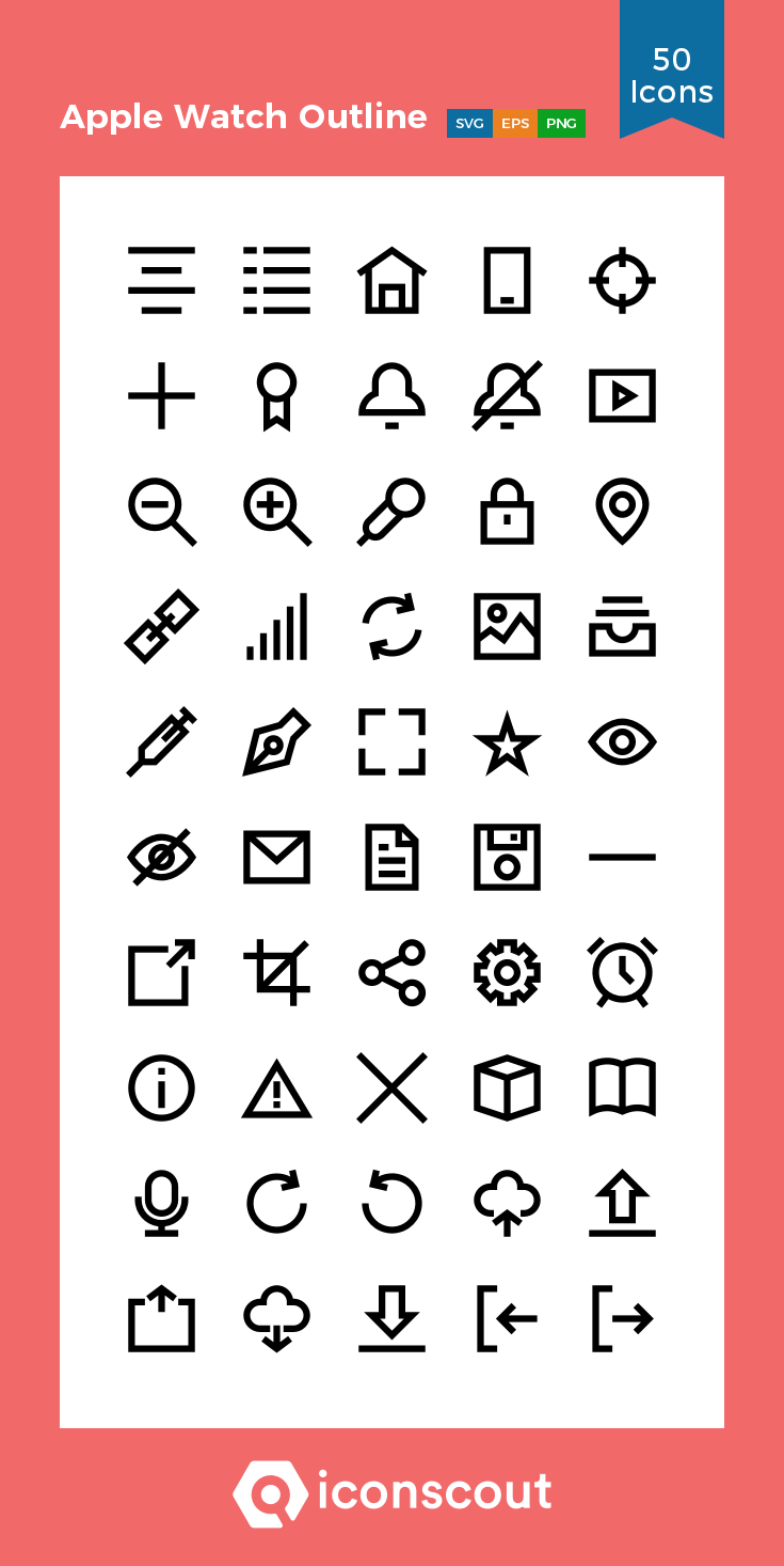 Download Apple Watch Outline Icon Pack Available In Svg Png Eps Ai Icon Fonts Icon Pack Apple Watch Icon