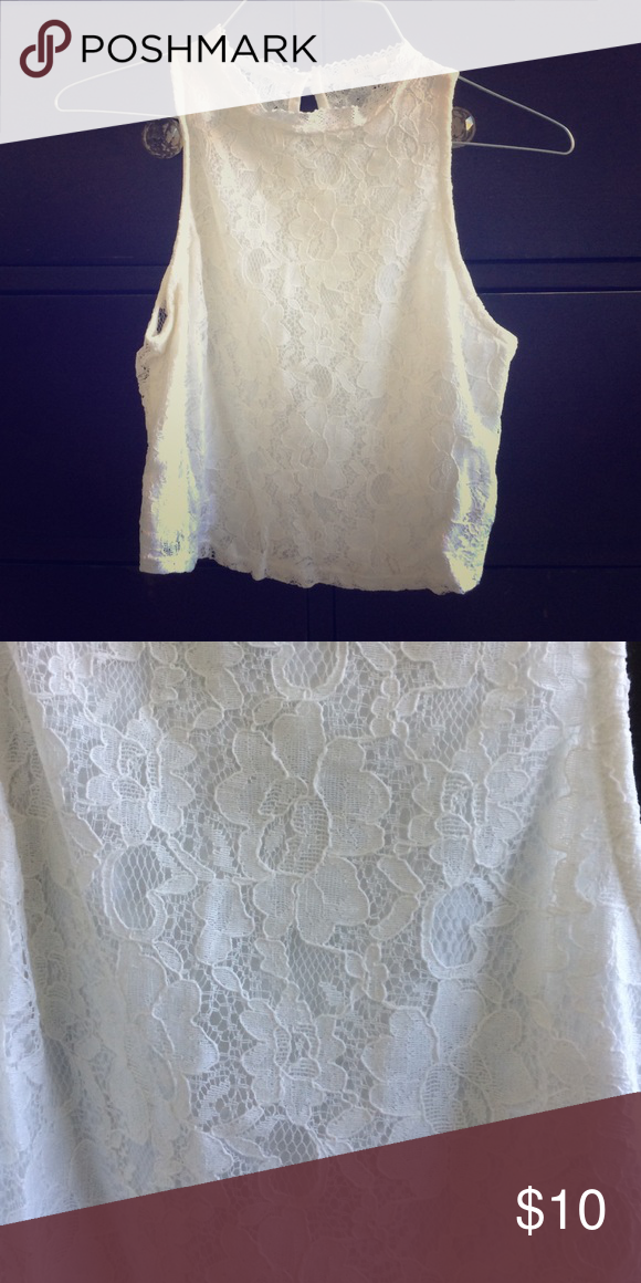 Lace Crop Top Boutique crop top. Not Free People. Like new Free People Tops Crop Tops