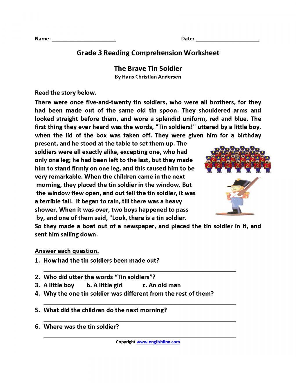 10 3rd Grade Comprehension Worksheets Reading Comprehension Worksheets Comprehension Worksheets 4th Grade Reading Worksheets