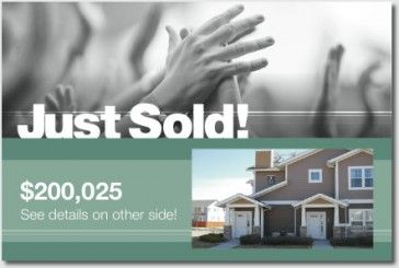 Free Real Estate Postcards And Templates Breakthrough Broker - Just sold templates free