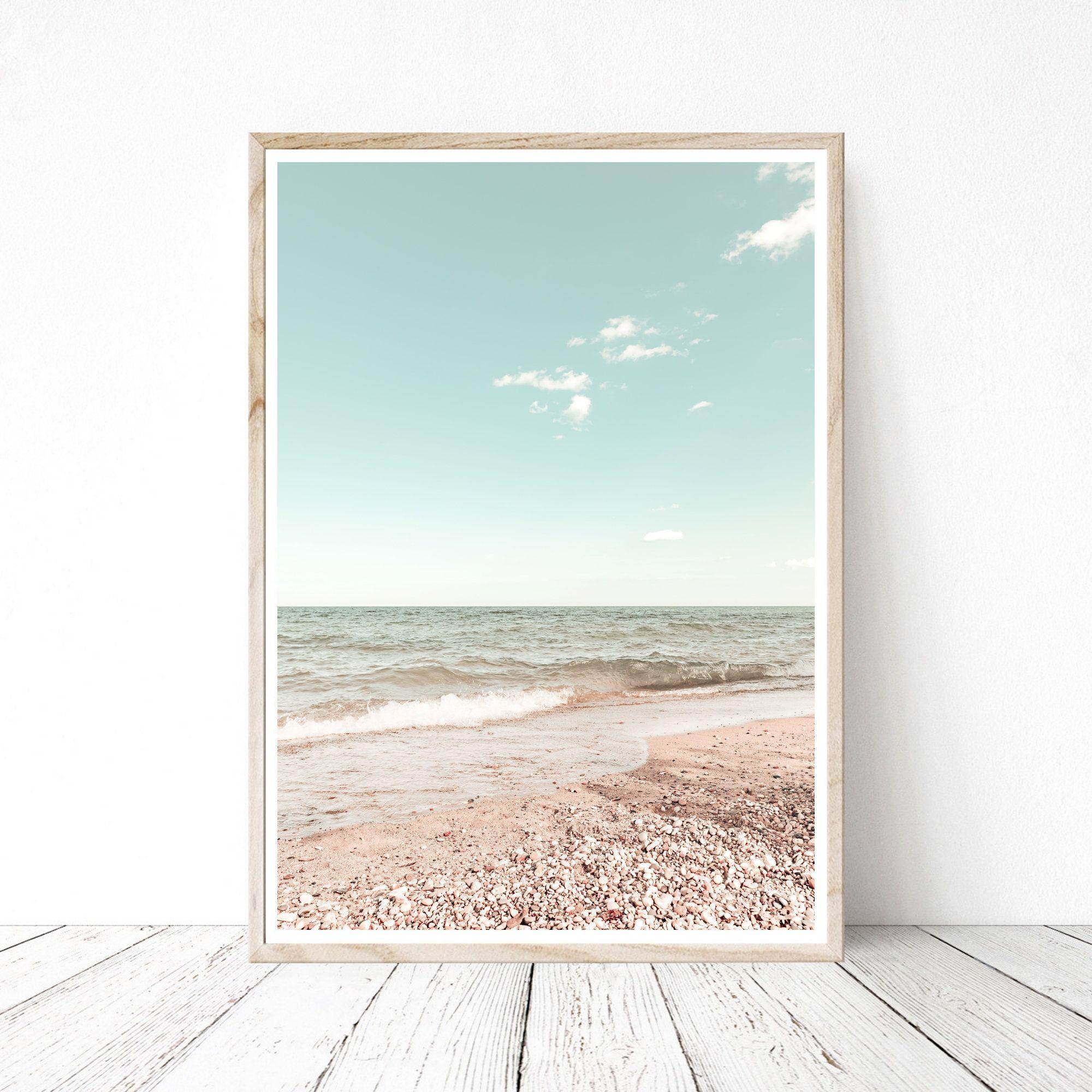Lake Michigan Print Printable Art Downloadable Print Etsy Ocean Print Printable Wall Art Beach Photography