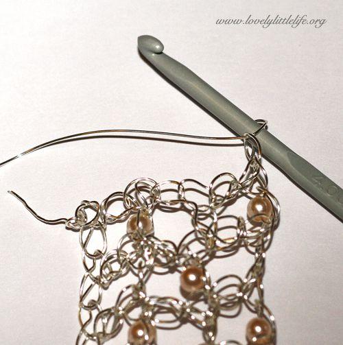 bracelet tut15 Crochet wire bracelet tutorial free | WIRE CROCHET ...