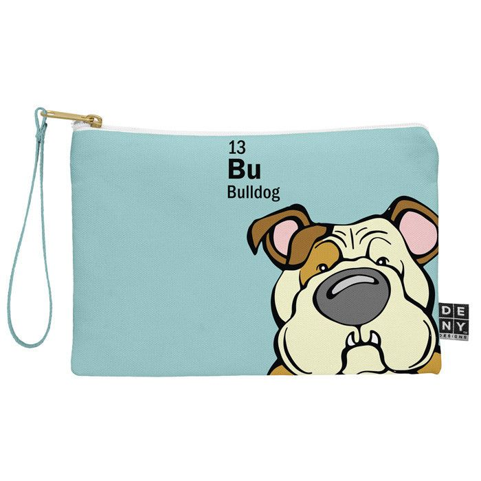 Angry Squirrel Studio Bulldog 13 Pouch | DENY Designs Home Accessories