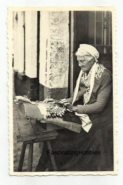LACEMAKER old Woman working with BOBBINS by FascinatingHobbies ... 8dd3915b89d8