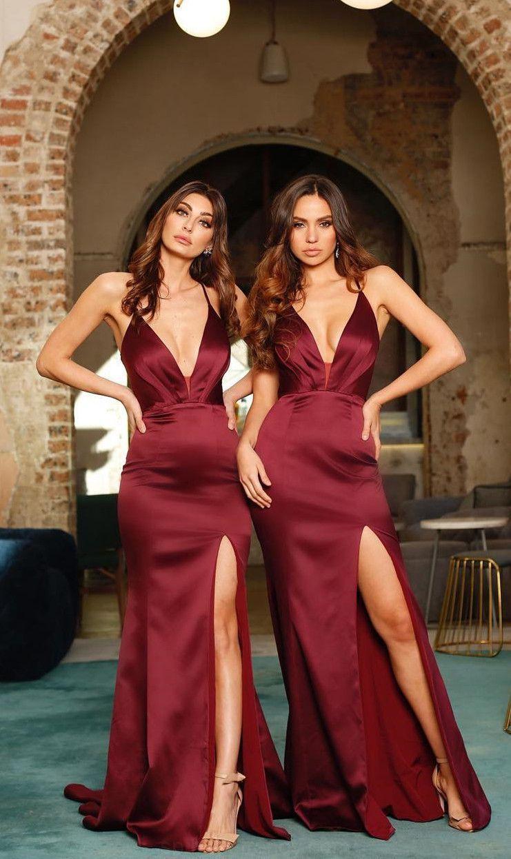12++ Damas de honor rojo trends