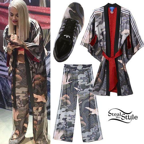 purchase cheap c862e 6bdc7 Rita Ora Adidas Kimono Outfit