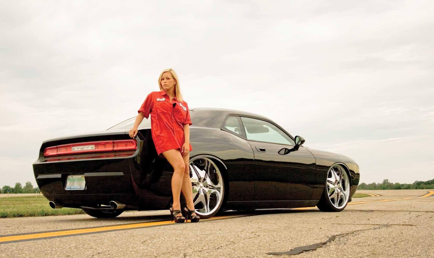 Dodge Challenger And Girl Supercar Dodge Musclecar Super