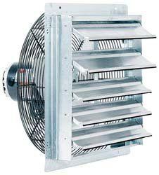 Fantech 2SHE24B1W 24″ Axial Wall Shutter Fan, Direct Drive ...
