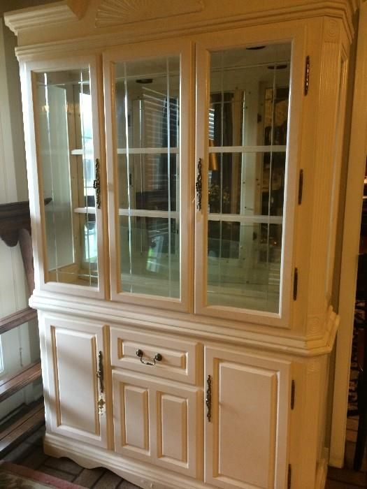 Light Wood Dining China Cabinet (has Matching Table) New Divide U0026 Conquer  Sale Starting