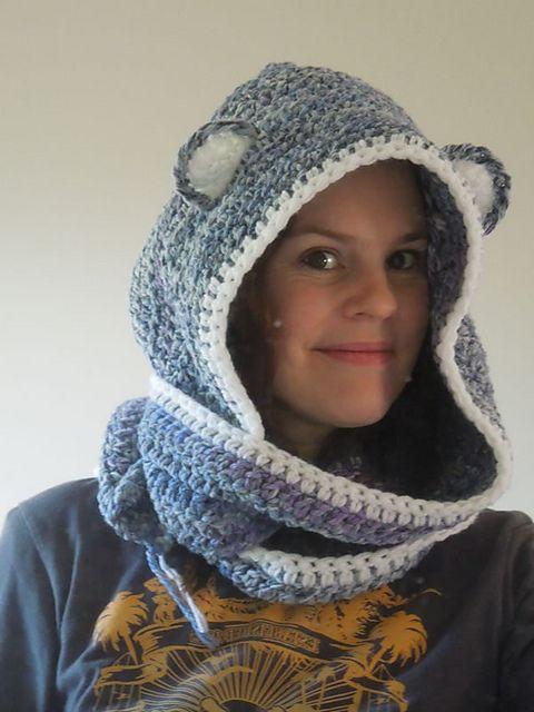Ravelry: Bear Scoodie pattern by HappyBerry | scarfs | Pinterest ...