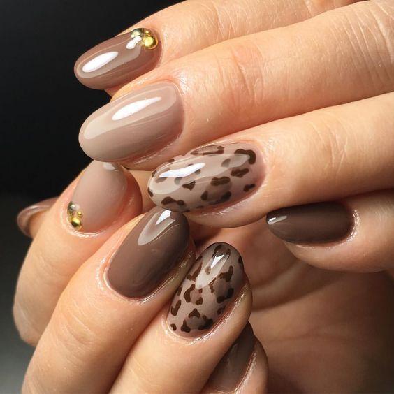 Stylish leopard nail art design ideas 2020 #nail #nailideas #nailart #naildesign #bridalnail #weddingnail #naildesign2020 #nailideas2020