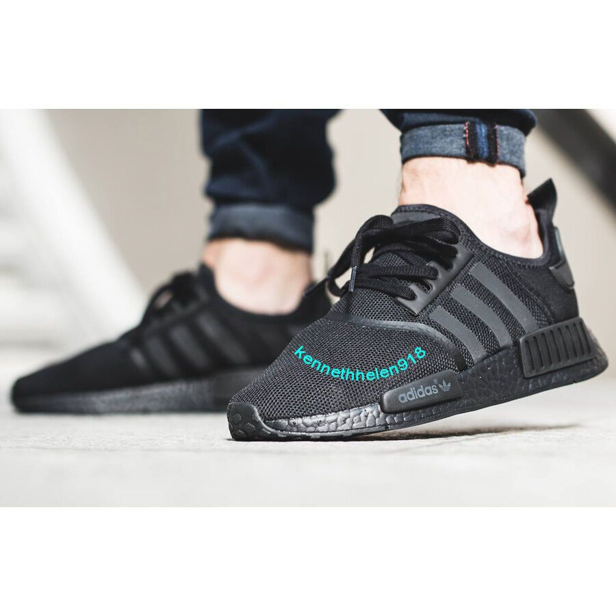 buy popular 46272 7a222 eBay #Sponsored ADIDAS NMD R1 RUNNING SHOES TRIPLE BLACK ...