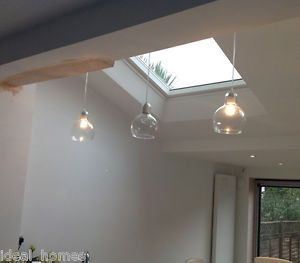 Retro Cafe Bar Mouth-Blown Glass Pendant Ceiling Light Edison Bulb Home Decor