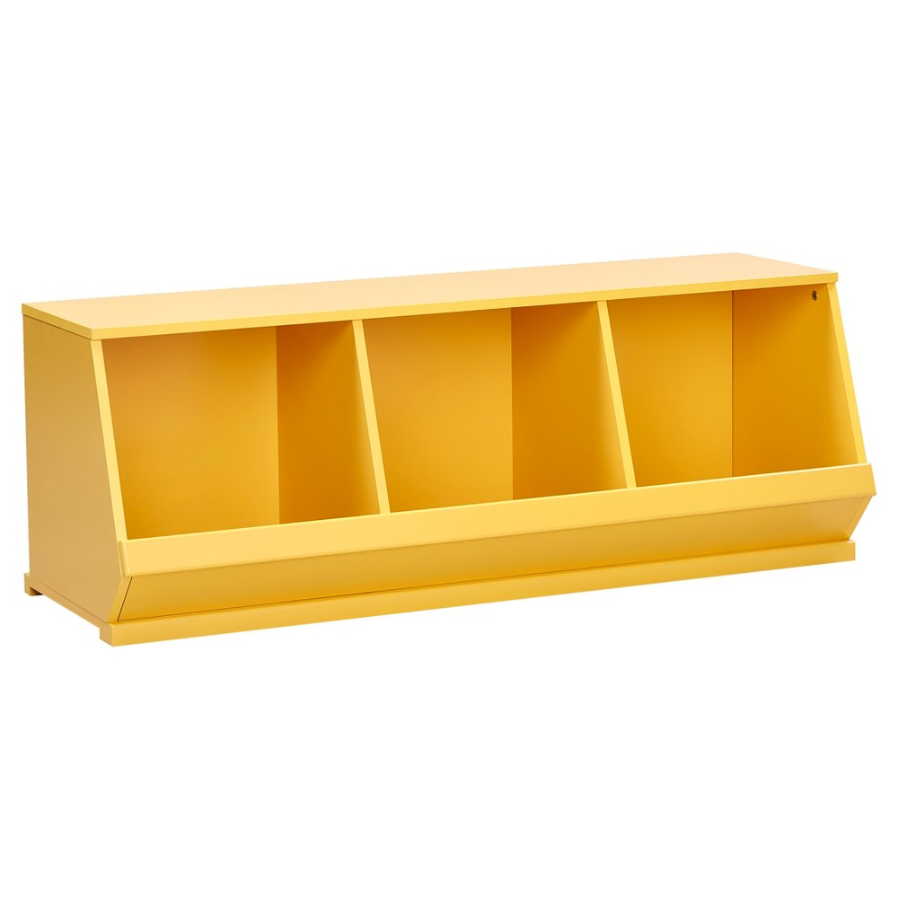 Kelly Modular Stackable Triple Storage Cubby - Yellow - Inspire Q