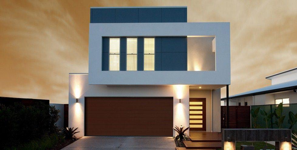 Modelo de casa minimalista moderna de 2 pisos for Diseno de casa de 180 metros cuadrados